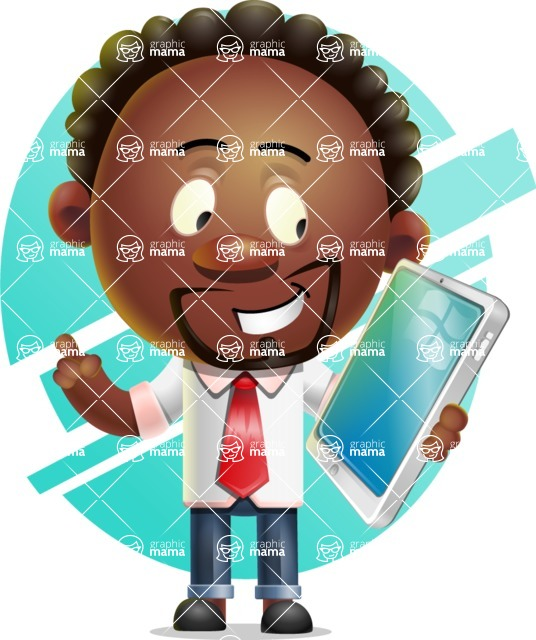Cute African American Man Cartoon 3D Vector Character AKA Jeffrey Strategic - Shape 6