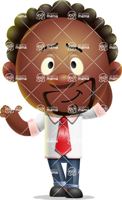 Cute African American Man Cartoon 3D Vector Character AKA Jeffrey Strategic - Sorry