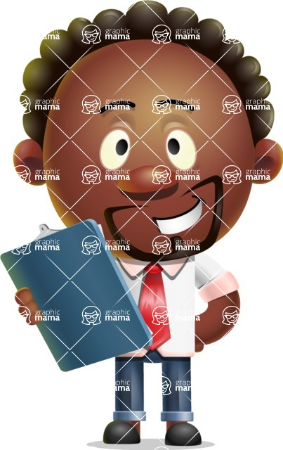 Cute African American Man Cartoon 3D Vector Character AKA Jeffrey Strategic - Notepad 2