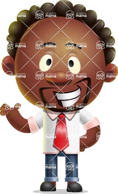 Cute African American Man Cartoon 3D Vector Character AKA Jeffrey Strategic - Showcase 2