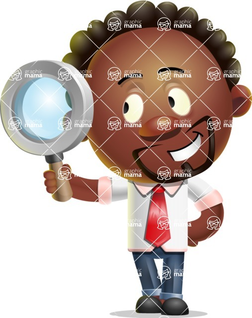 Cute African American Man Cartoon 3D Vector Character AKA Jeffrey Strategic - Search