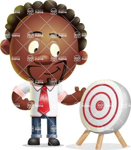 Cute African American Man Cartoon 3D Vector Character AKA Jeffrey Strategic - Target