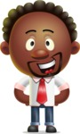 Cute African American Man Cartoon 3D Vector Character AKA Jeffrey Strategic - Normal