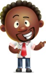 Cute African American Man Cartoon 3D Vector Character AKA Jeffrey Strategic - Point 2