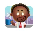 Cute African American Man Cartoon 3D Vector Character AKA Jeffrey Strategic - Shape 2