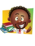 Cute African American Man Cartoon 3D Vector Character AKA Jeffrey Strategic - Shape 3