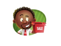 Cute African American Man Cartoon 3D Vector Character AKA Jeffrey Strategic - Shape 4