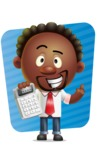Cute African American Man Cartoon 3D Vector Character AKA Jeffrey Strategic - Shape 5