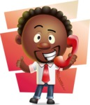 Cute African American Man Cartoon 3D Vector Character AKA Jeffrey Strategic - Shape 7