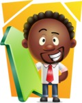 Cute African American Man Cartoon 3D Vector Character AKA Jeffrey Strategic - Shape 8