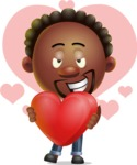 Cute African American Man Cartoon 3D Vector Character AKA Jeffrey Strategic - Shape 10
