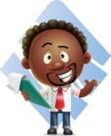 Cute African American Man Cartoon 3D Vector Character AKA Jeffrey Strategic - Shape 11