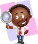 Cute African American Man Cartoon 3D Vector Character AKA Jeffrey Strategic - Shape 12