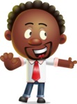 Cute African American Man Cartoon 3D Vector Character AKA Jeffrey Strategic - Direct Attention 2