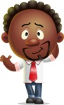 Cute African American Man Cartoon 3D Vector Character AKA Jeffrey Strategic - Sorry
