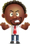 Cute African American Man Cartoon 3D Vector Character AKA Jeffrey Strategic - Stop