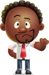 Cute African American Man Cartoon 3D Vector Character AKA Jeffrey Strategic - Stop 2