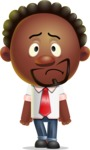 Cute African American Man Cartoon 3D Vector Character AKA Jeffrey Strategic - Sad