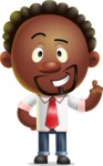 Cute African American Man Cartoon 3D Vector Character AKA Jeffrey Strategic - Attention