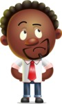 Cute African American Man Cartoon 3D Vector Character AKA Jeffrey Strategic - Roll Eyes