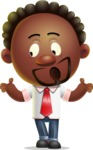 Cute African American Man Cartoon 3D Vector Character AKA Jeffrey Strategic - Lost