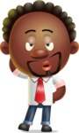 Cute African American Man Cartoon 3D Vector Character AKA Jeffrey Strategic - Duckface