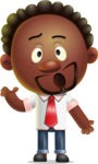 Cute African American Man Cartoon 3D Vector Character AKA Jeffrey Strategic - Confused