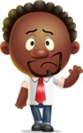 Cute African American Man Cartoon 3D Vector Character AKA Jeffrey Strategic - Goodbye
