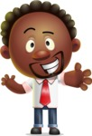Cute African American Man Cartoon 3D Vector Character AKA Jeffrey Strategic - Hello