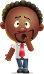 Cute African American Man Cartoon 3D Vector Character AKA Jeffrey Strategic - Oops
