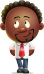 Cute African American Man Cartoon 3D Vector Character AKA Jeffrey Strategic - Patient