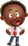 Cute African American Man Cartoon 3D Vector Character AKA Jeffrey Strategic - Making Face