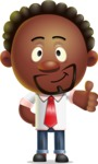 Cute African American Man Cartoon 3D Vector Character AKA Jeffrey Strategic - Thumbs Up