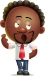 Cute African American Man Cartoon 3D Vector Character AKA Jeffrey Strategic - Bored 2