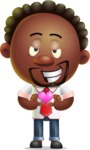 Cute African American Man Cartoon 3D Vector Character AKA Jeffrey Strategic - Show Love