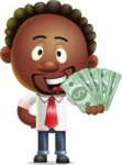 Cute African American Man Cartoon 3D Vector Character AKA Jeffrey Strategic - Show me  the Money