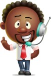 Cute African American Man Cartoon 3D Vector Character AKA Jeffrey Strategic - Support 2