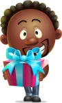 Cute African American Man Cartoon 3D Vector Character AKA Jeffrey Strategic - Gift