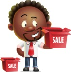 Cute African American Man Cartoon 3D Vector Character AKA Jeffrey Strategic - Sale