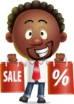 Cute African American Man Cartoon 3D Vector Character AKA Jeffrey Strategic - Sale 2