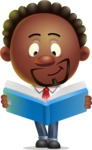 Cute African American Man Cartoon 3D Vector Character AKA Jeffrey Strategic - Book 1