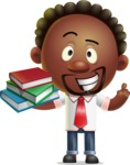 Cute African American Man Cartoon 3D Vector Character AKA Jeffrey Strategic - Book 2