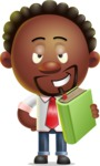 Cute African American Man Cartoon 3D Vector Character AKA Jeffrey Strategic - Book 3