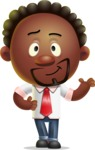 Cute African American Man Cartoon 3D Vector Character AKA Jeffrey Strategic - Showcase