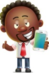 Cute African American Man Cartoon 3D Vector Character AKA Jeffrey Strategic - iPhone