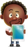 Cute African American Man Cartoon 3D Vector Character AKA Jeffrey Strategic - iPad 1