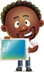 Cute African American Man Cartoon 3D Vector Character AKA Jeffrey Strategic - iPad 2