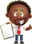 Cute African American Man Cartoon 3D Vector Character AKA Jeffrey Strategic - Notepad 1