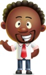 Cute African American Man Cartoon 3D Vector Character AKA Jeffrey Strategic - Showcase 2