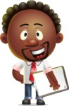 Cute African American Man Cartoon 3D Vector Character AKA Jeffrey Strategic - Notepad 4